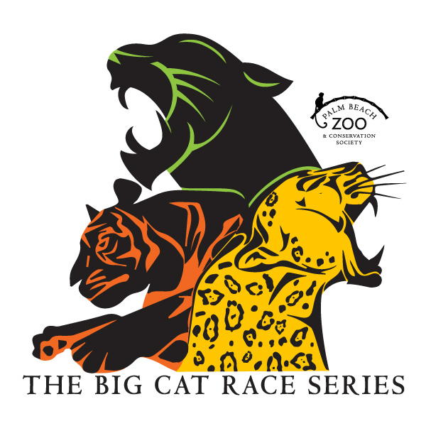 The Zoou0027s Big Cat Race Series Logo, Featuring Fierce Woodblock Illustration  Of A Jaguar,
