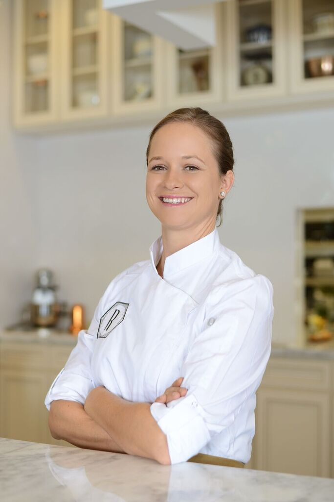 Chef Lindsay Autry poses in her kitchen