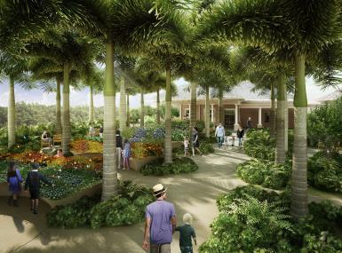 Artist's rendering of the proposed Sensory Arts Garden