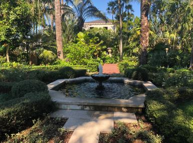 Fountain and formal garden at The Society of the Four Arts