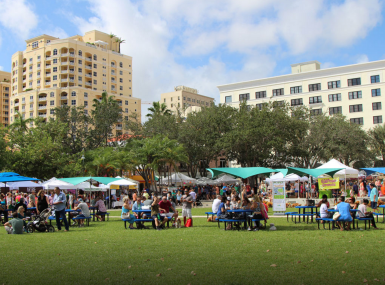 The West Palm Beach GreenMarket on Waterfront Commons