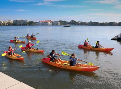 Kayak regata in Lake Worth Lagoon to celebrate LagoonFest