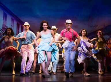 Group of latin dancers perform Broadway musical