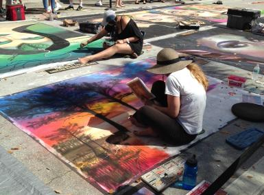 Lake Worth Street Painting Festival art in progress